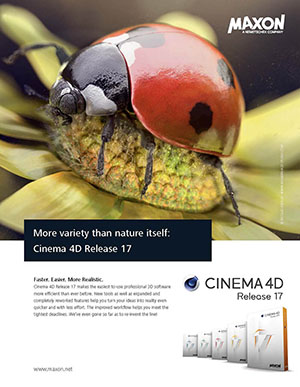 Maxon cinema 4D r17 advertising