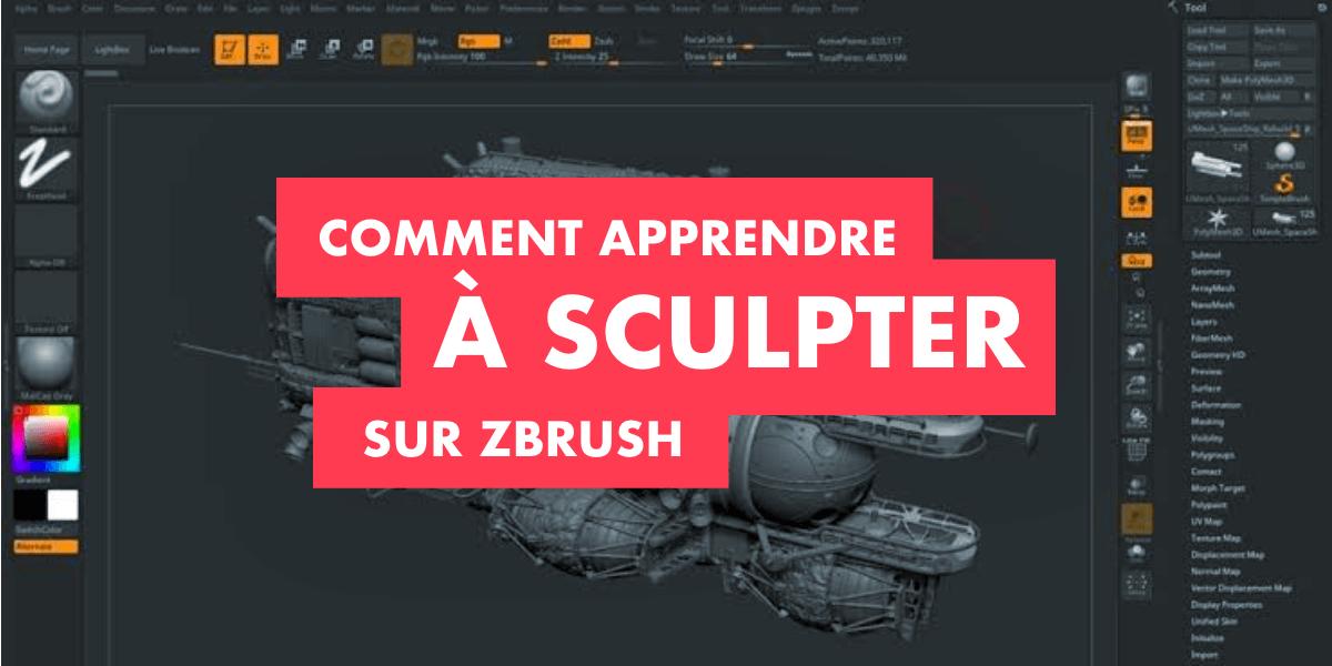Bannière de l'article : Comment apprendre à sculpter sur ZBrush