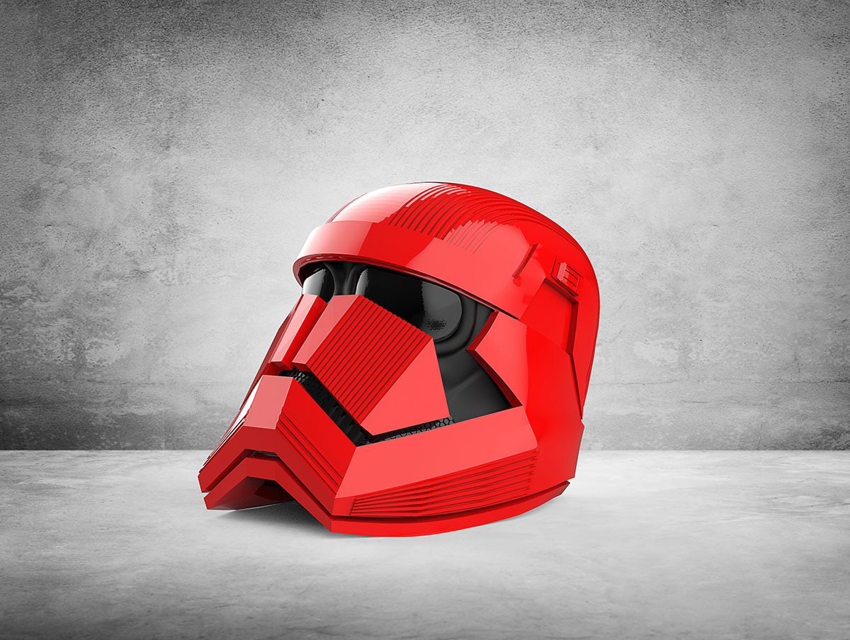 Illustration 3D d'un casque sith de starwars