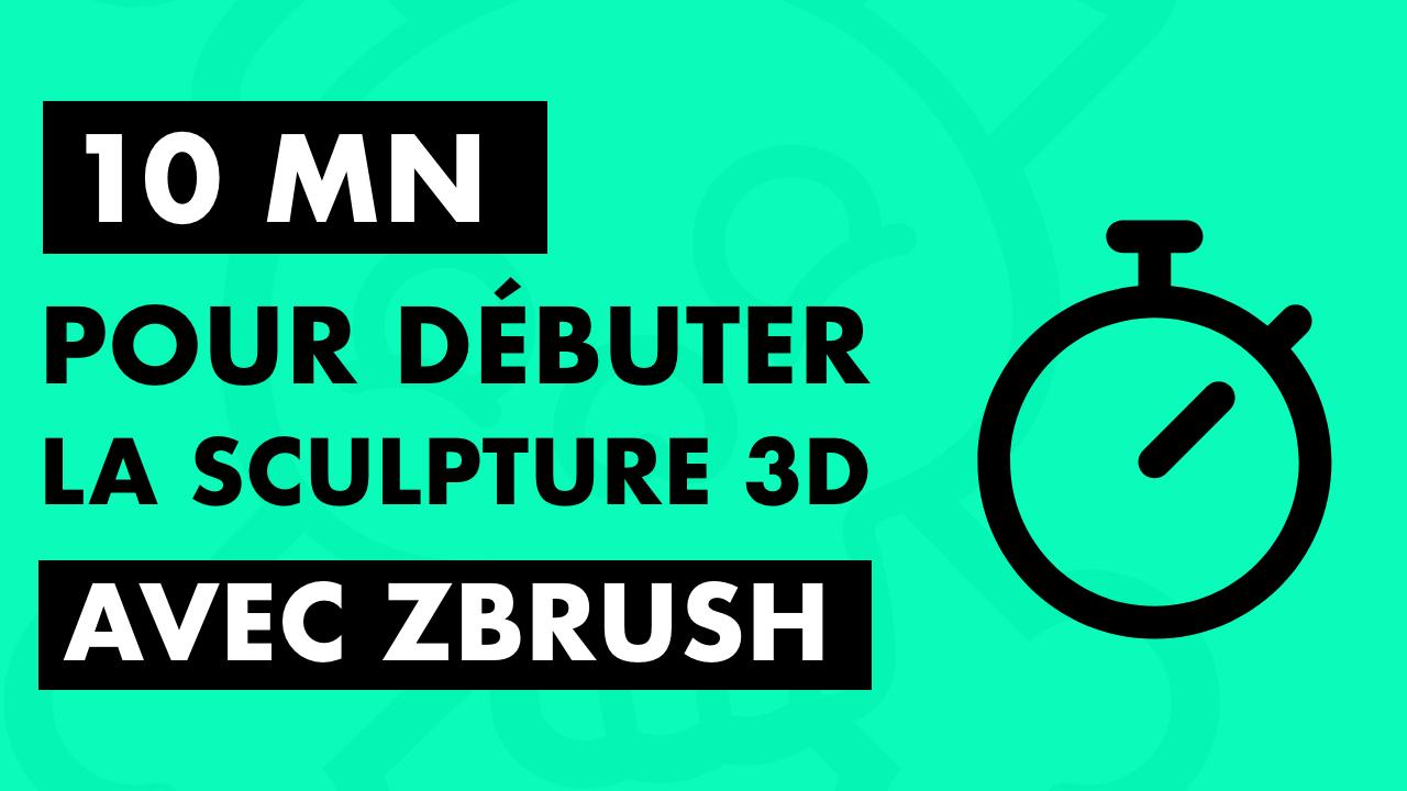 Bannière de l'article sur 10 minutes pour débuter la sculpture 3D avec zbrush