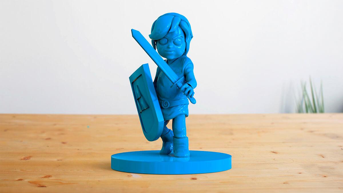 Image de la création d'une figurine 3D avec ZBrush